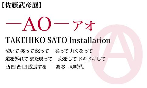 佐藤武彦展 -AO- アオ TAKEHIKO SATO Installation